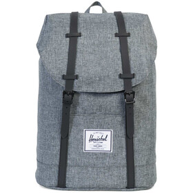 Herschel Retreat Selkäreppu 19,5l, raven crosshatch/black
